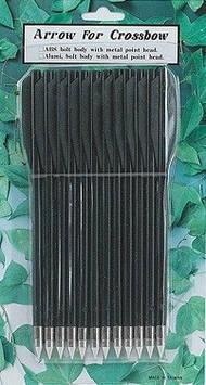Стрелы для пист.арбалета Man Kung MK-PL-BK, пластик, ц:черный (MK-PL-BK)