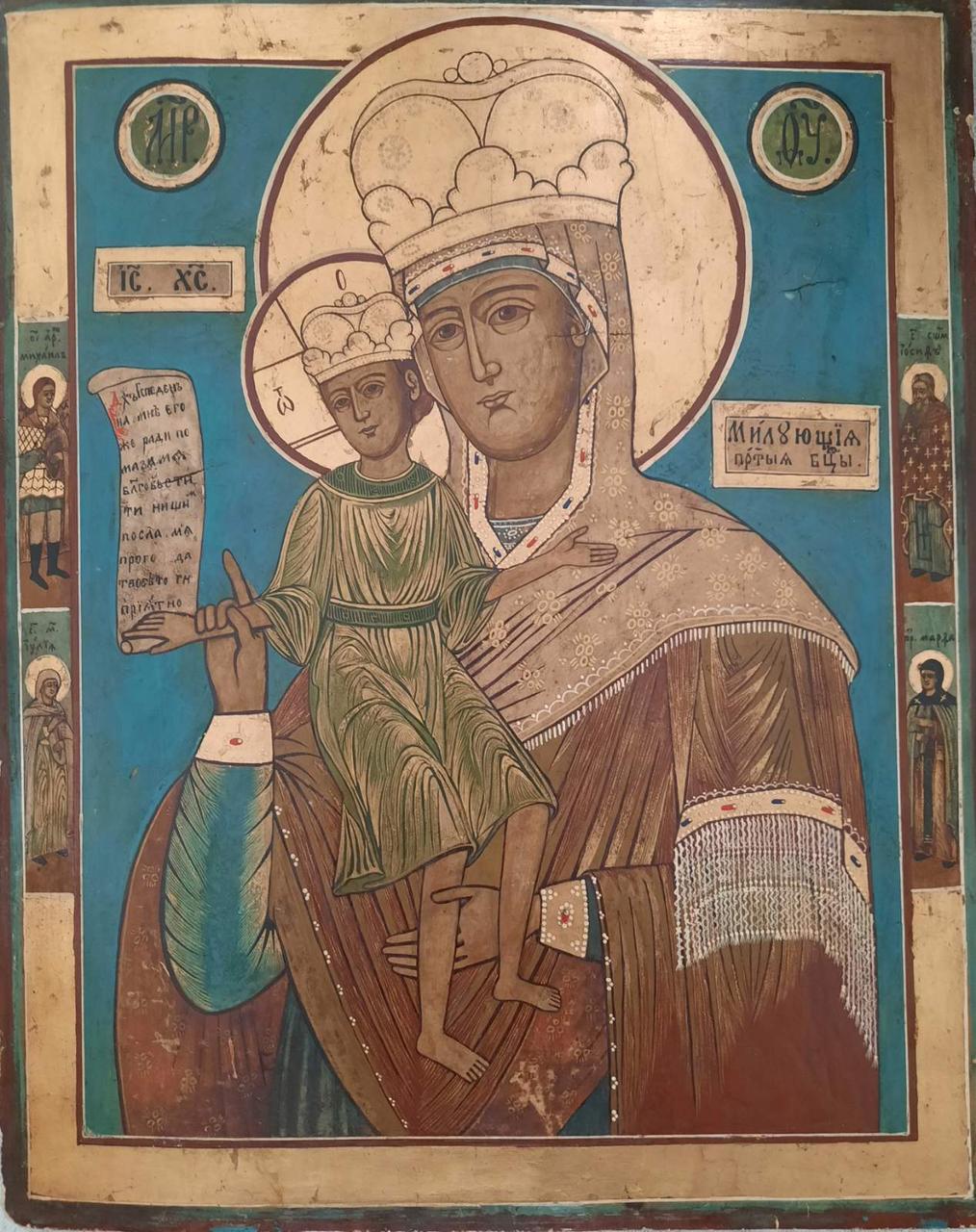Икона  Богородицы Достойно есть 19 век