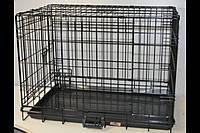 Клетка для собак 2 двери 76*53*57