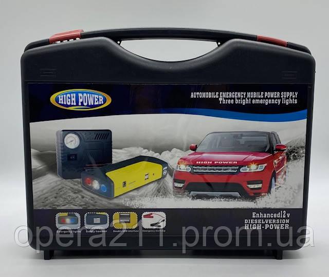 Автомобільний Пусковий пристрій автомобіля Jump Starter M15 68800mAH з компресором (5шт)