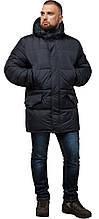 Стильная куртка мужская зимняя графитовая модель 27055