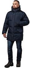 Комфортна куртка зимова чоловіча темно-синя модель 27055