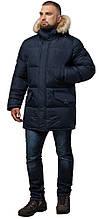 Куртка практична зимова чоловіча колір темно-синій модель 10055