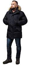 Комфортная куртка мужская зимняя чёрная модель 10055