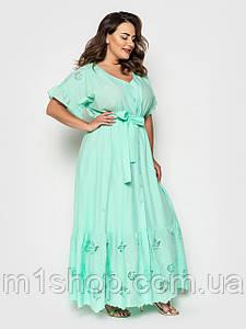 Жіноче літнє плаття з батисту великих розмірів (Сюзанна lzn)