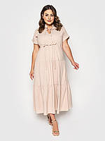 Женское летнее платье в пол больших размеров (Пилея lzn)