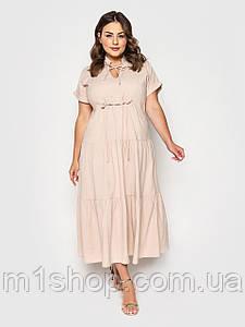 Жіноче літнє плаття в підлогу великих розмірів (Пілея lzn)
