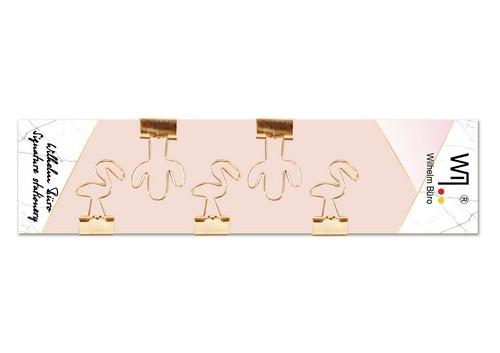 Набір біндерів фігурних 5шт, рожеве золото Wilhelm Buro