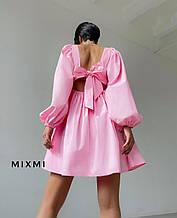 Жіноче плаття, коттон, р-р 42-44; 44-46 (рожевий)