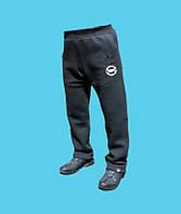 Брюки спортивные Adidas трикотажные, демисезонные.Чёрные.24168