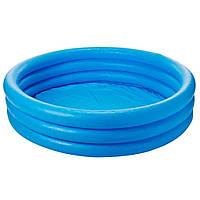Бассейн детский надувной Intex «Кристалл» 160 л 114х25 см для детей