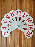 Веер цифр | обучающий набор цифр | набор цифр | цифры для школьника |