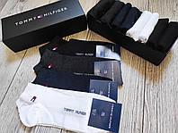 Набор мужских носков Tommy Hilfiger - 9 пар в подарочной коробке упаковке томми хилфигер / носки