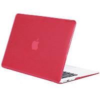 Чехол-накладка Matte Shell для Apple MacBook Pro touch bar 13 (2016/18/19) (A1706/A1708/A1989/A2159) Красный / Wine red