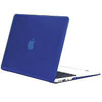 Чехол-накладка Matte Shell для Apple MacBook Pro touch bar 13 (2016/18/19) (A1706/A1708/A1989/A2159) Синий / Peony blue