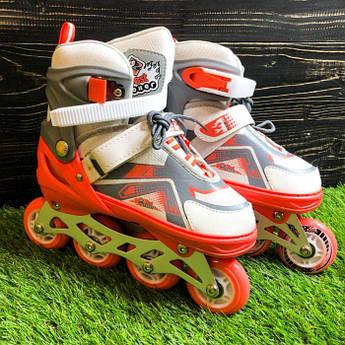 Детские ролики раздвижные Best Roller для детей девочки роликовые коньки ролики размер 34 35 36 37 розовые