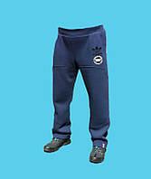 Брюки спортивные Adidas трикотажные, демисезонные.Синие.24169