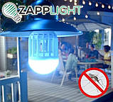 Светодиодная лампа ночник-убийца Противомоскитная лампа от комаров мух Фонарь ловушка для комаров, фото 4