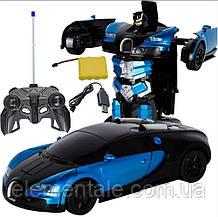 Машинка Робот Трансформер bugatti іграшка на радіоуправлінні