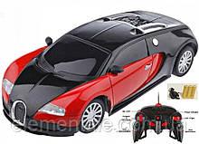 Машинка Робот Трансформер bugatti червона іграшка на радіоуправлінні