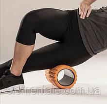 Масажний ролик для спини 30×9см Масажний валик для спини йоги фітнесу