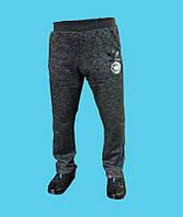 Брюки спортивные Adidas трикотажные, демисезонные.Чёрно-серые.24170