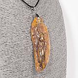 Кулон з бурштином самородок, 1561КЛЯ, фото 2