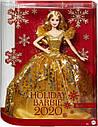 Кукла Барби Праздничная 2020 в золотом платье коллекционная Barbie 2020 Holiday, фото 7