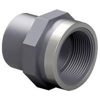 "Effast Адаптер-втулка ПВХ Effast RGRAFR050G с металлическим кольцом, d50x2"""
