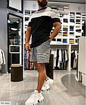 Чоловічий костюм двійка річний шорти і футболка, фото 2