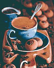 Картина по номерам натюрморт 40х50 Кофе с корицей