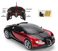Машинка Автобот на пульте управления Трансформер с пультом bugatti красная игрушка на радиоуправлении