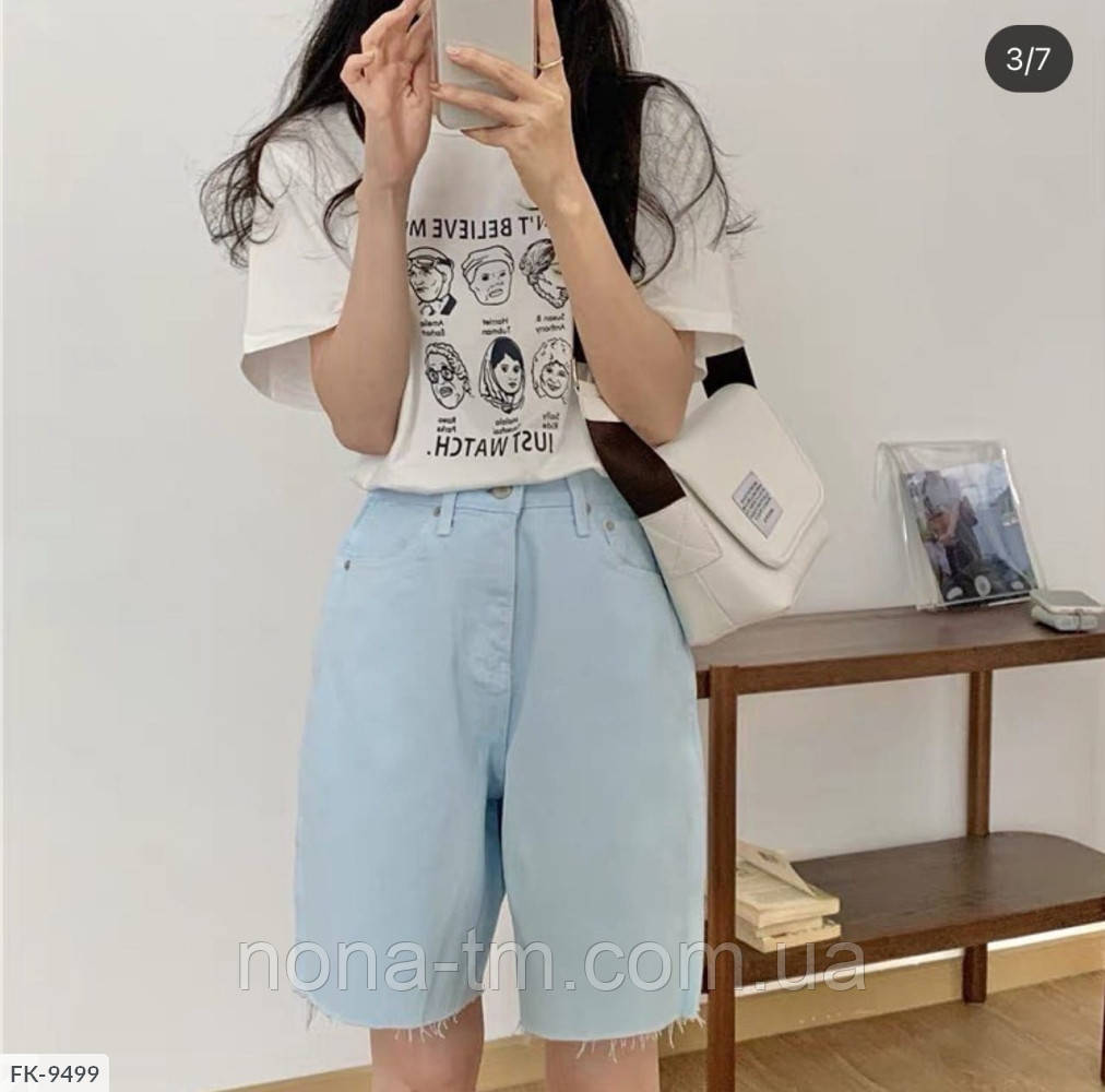 Женские шорты стильные джинсовые