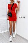 Женское платье, микродайвинг, р-р 42-44; 44-46 (красный), фото 2