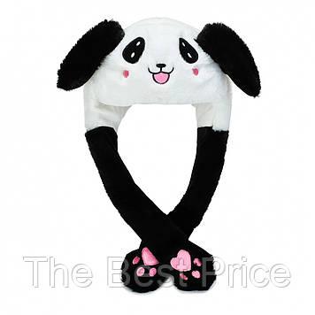 Карнавальна шапка з підсвічуванням панда з піднімаються вухами