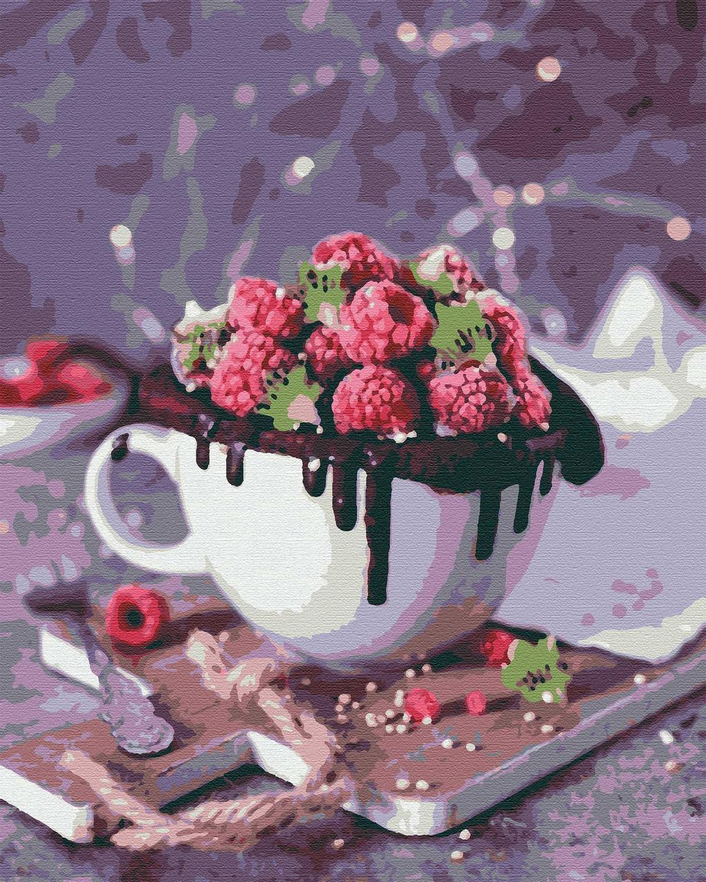 Картина по номерам натюрморт 40х50 Малиновое Чудо