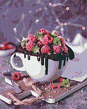 Картина за номерами натюрморт 40х50 Малинове Диво