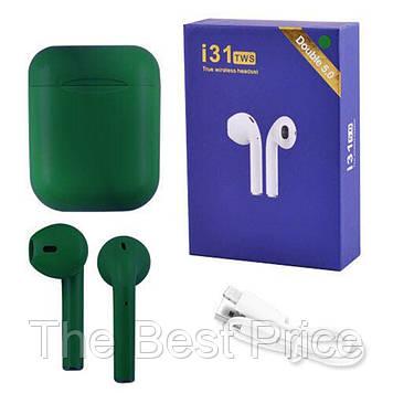Бездротові Bluetooth навушники TWS i31-5.0. Колір темно-синій