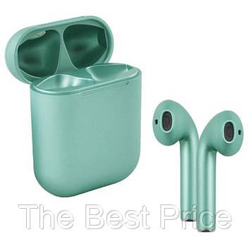 Бездротові навушники блютуз гарнітура inPods 12 simple TWS bluetooth V5.0 сенсорні. Колір жовтий металік