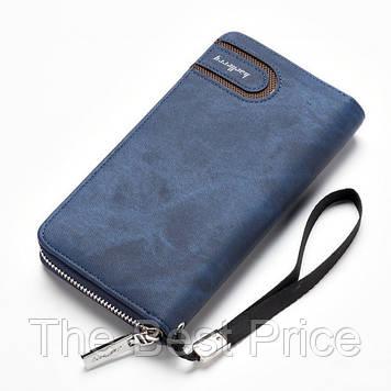 Чоловіче портмоне Baellerry Denim S1514. Колір синій
