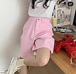 Женские шорты модные джинсовые с высокой посадкой, фото 4