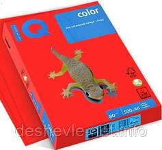 Бумага цветная А4 500 листов 80 г/м2 IQ CO44 Каралово- красная