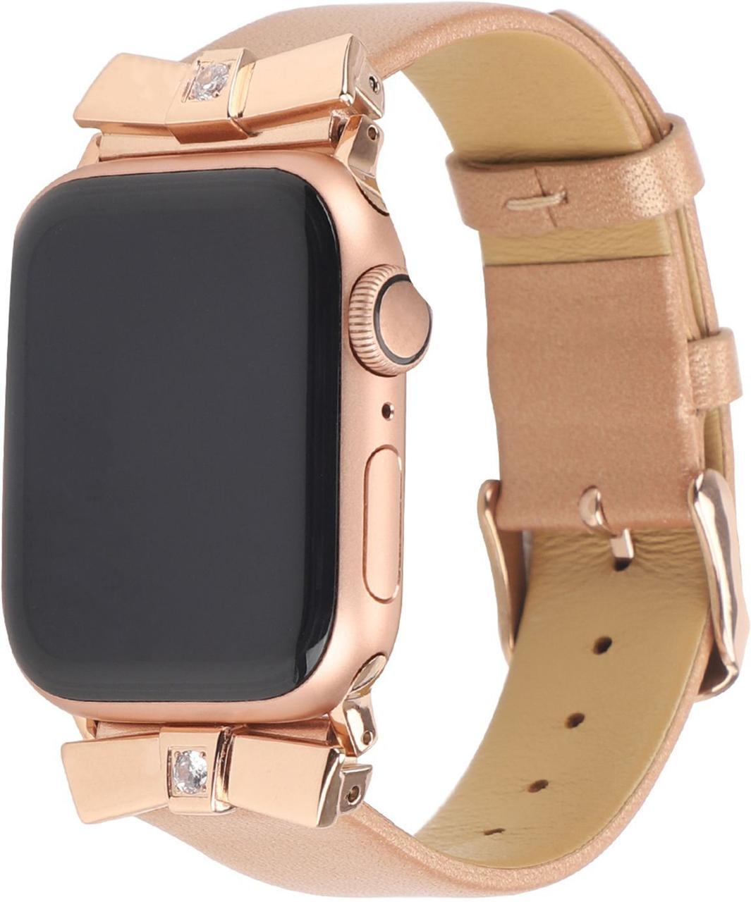 Ремешок из кожи Promate Scepter-38ML для Apple Watch 38-40 мм Gold
