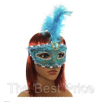 Венецианская маска Патриция (20см) голубая