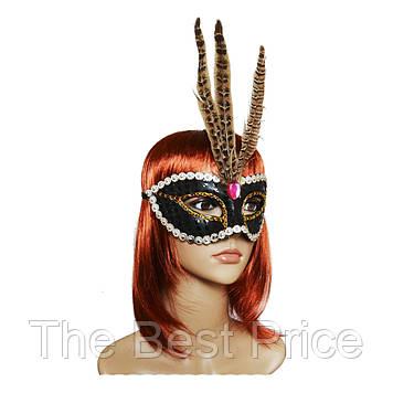 Венеціанська маска Фантазія (чорна)