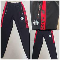 Подростковые спортивные штаны на манжетахдля мальчика Air Force размер 12-16лет, цвет черный с красным