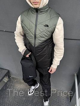 Жилетка мужская (хаки-черная) the north face штаны барсетка