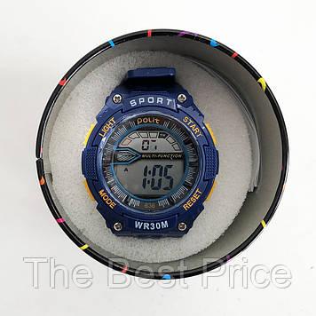 Годинник наручний Polit, в коробці. Колір синій з помаранчевим