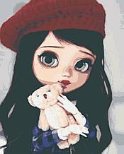 Картина за номерами діти дівчина 40х50 Лілі