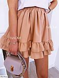 Жіночий костюм двійка спідниця і футболка на літо, фото 3